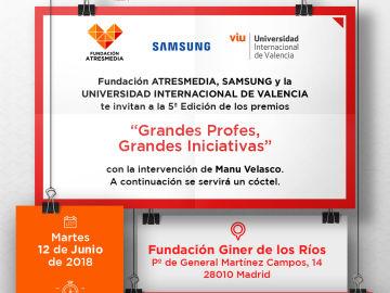 Inscríbete en la gala de los Premios 'Grandes Profes, Grandes Iniciativas'