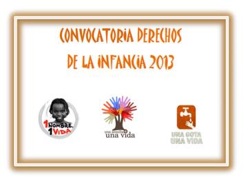 Convocatoria Derechos de la infancia 2013