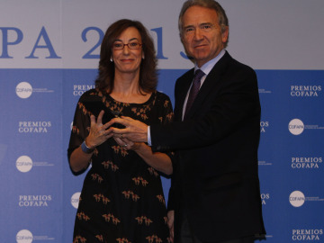 Carmen Bieger en los Premios COFAPA