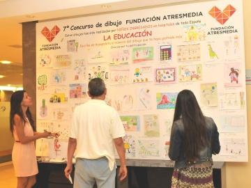 Exposición del 7º concurso de dibujo de la Fundación Atresmedia