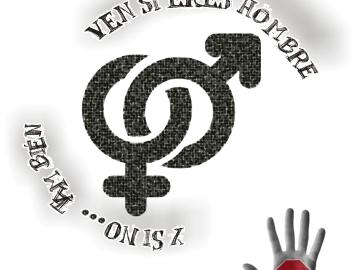Cartel del acto contra la violencia de género