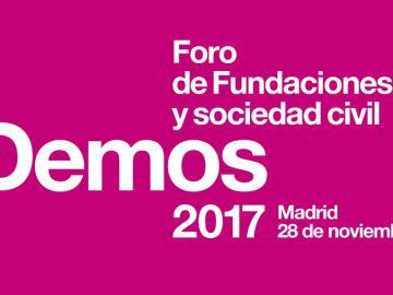 'Demos 2017: Foro de fundaciones y sociedad civil' reunirá a más de 400 profesionales de la cultura, sanidad, educación y filantropía