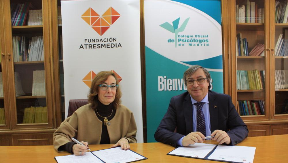 La Fundación Atresmedia y el Colegio Oficial de Psicólogos renuevan su acuerdo de colaboración