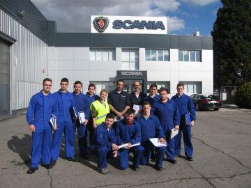 EFA Moratalaz y Scania renuevan su programa de FP Dual